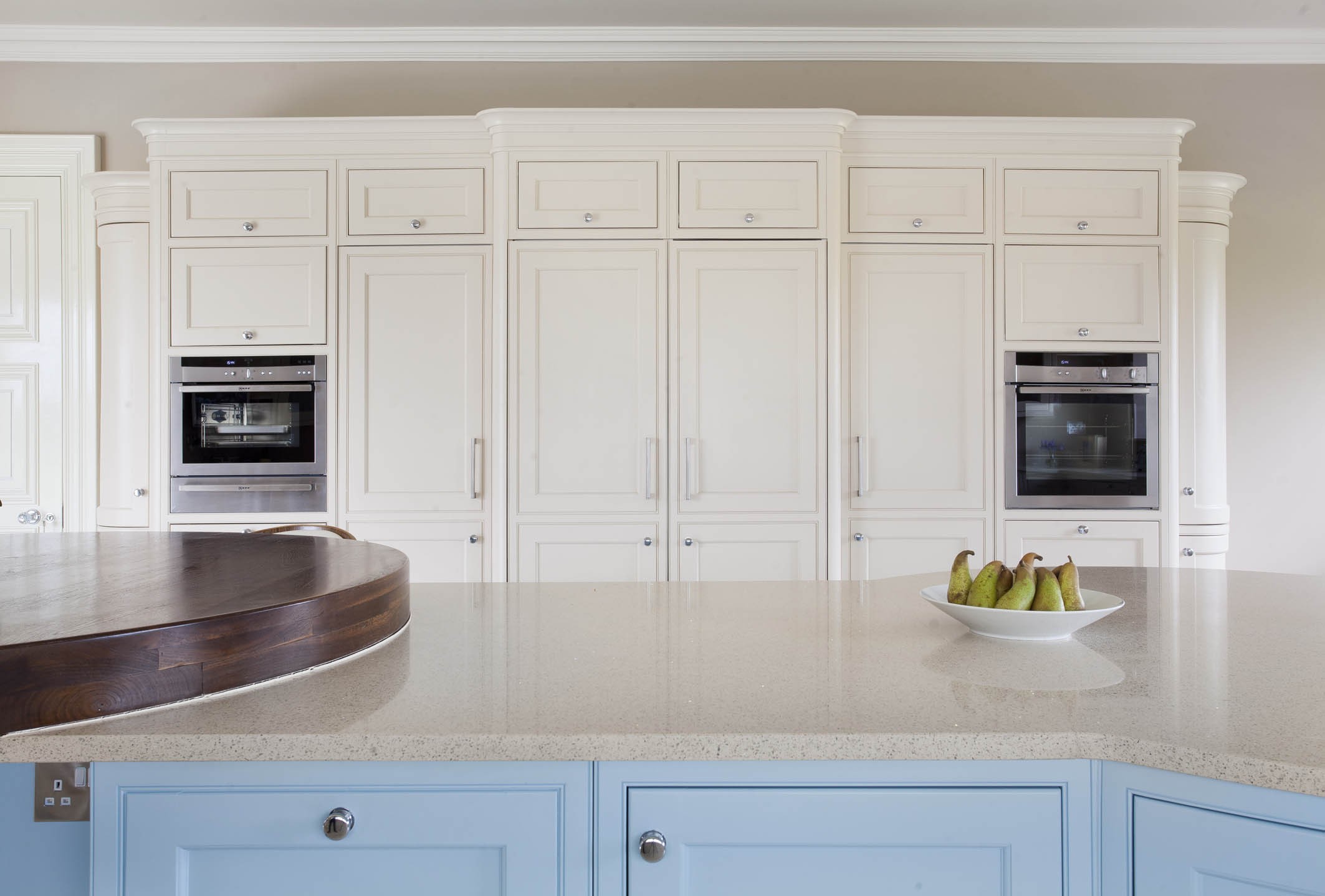 Bespoke Maple In Frame Kitchen Handpainted Farrow Ball Archive With Island