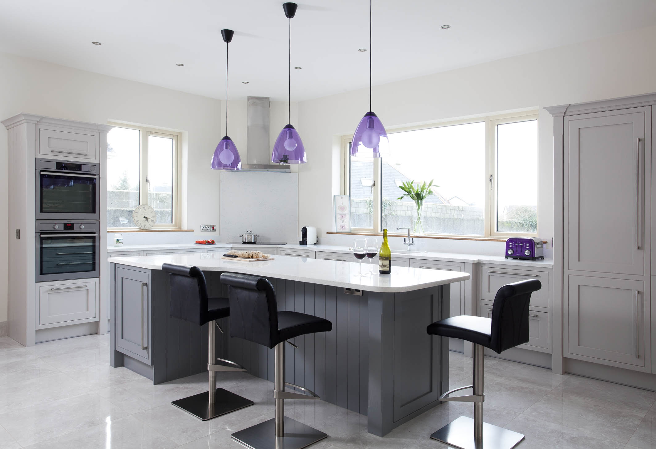 Classic contemporary handmade kitchen Tipperary painted in