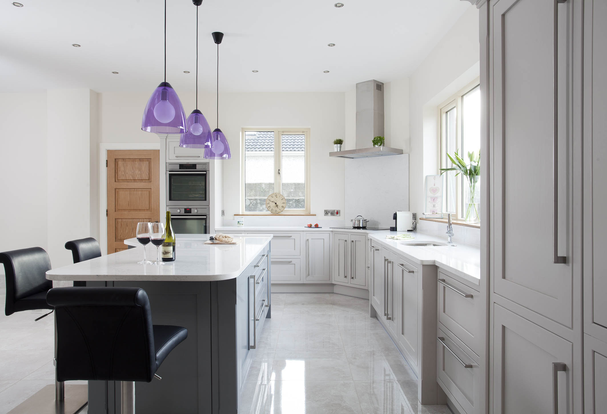 Classic contemporary handmade kitchen, Tipperary, painted in ...