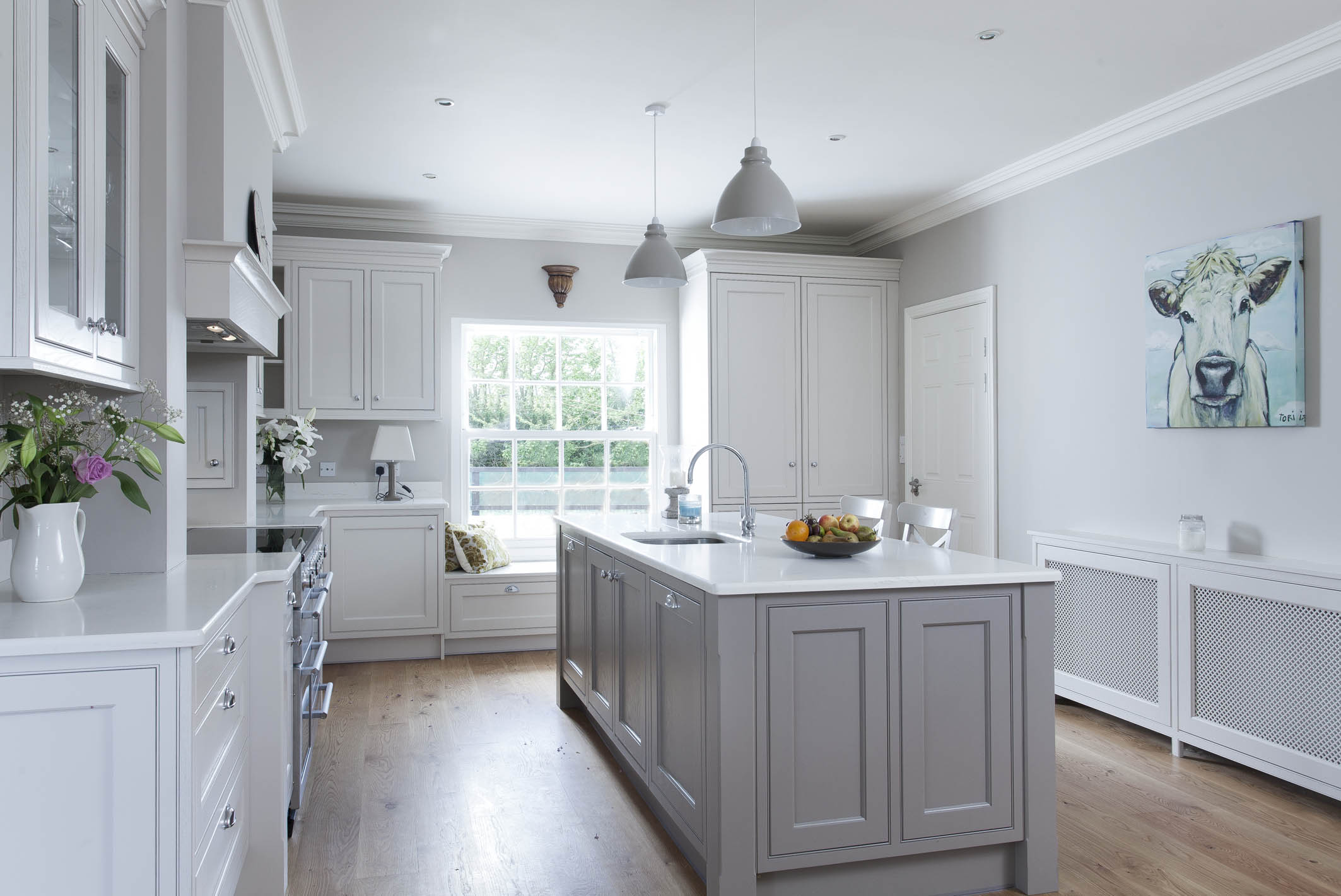 Classic style inframe painted grey kitchen, Thurles