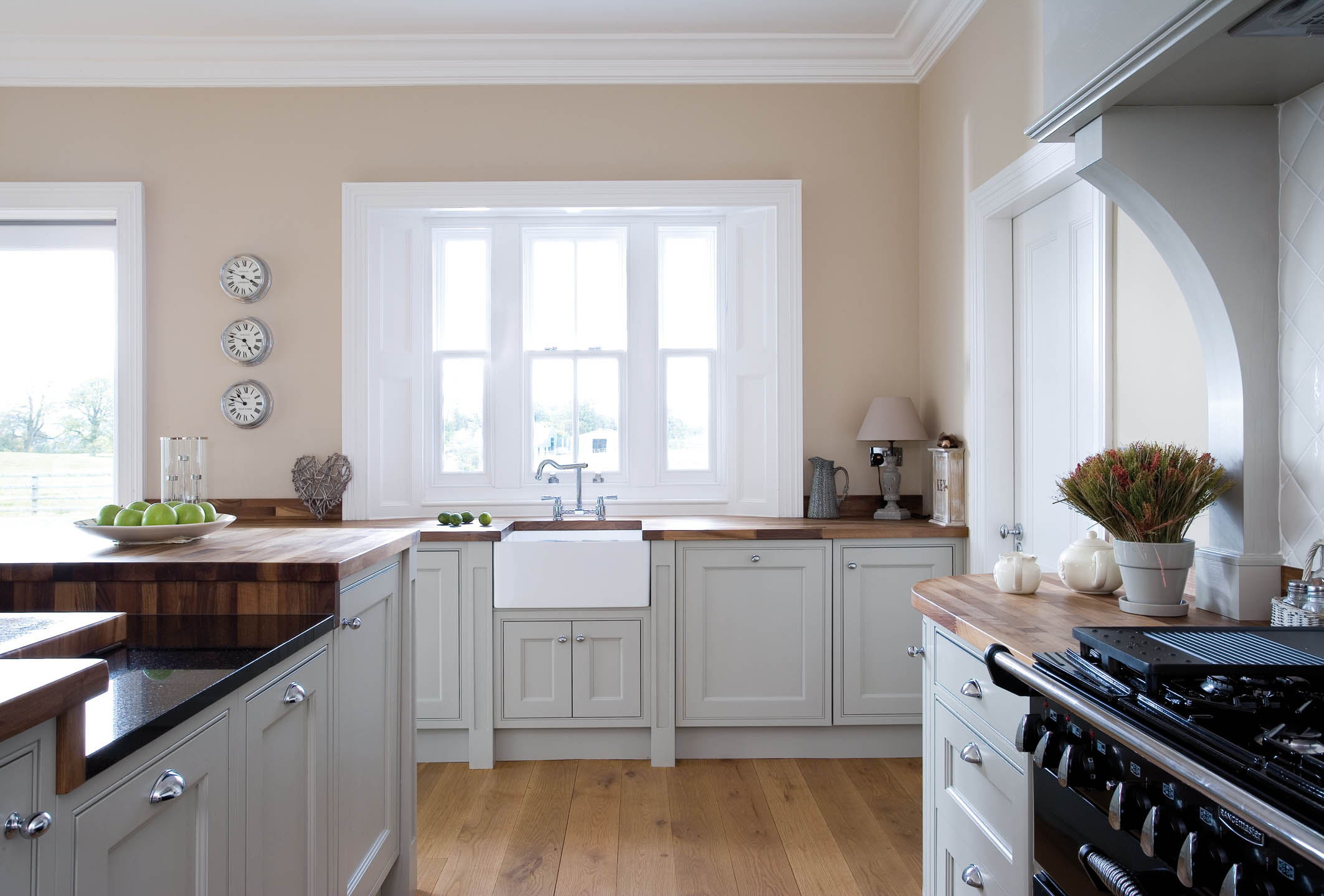 Handmade Grey Kitchen With Walnut Work Surface In Tipperary